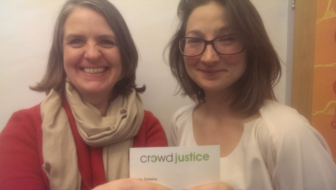 Podcast: Julia Salasky of @CrowdJusticeUK #IWD2016
